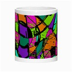 Abstract Sketch Art Squiggly Loops Multicolored Night Luminous Mugs Center