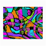 Abstract Sketch Art Squiggly Loops Multicolored Small Glasses Cloth Front