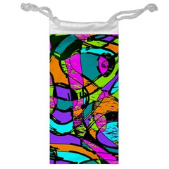 Abstract Sketch Art Squiggly Loops Multicolored Jewelry Bags