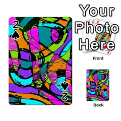 Abstract Sketch Art Squiggly Loops Multicolored Playing Cards 54 Designs  by EDDArt
