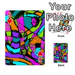 Abstract Sketch Art Squiggly Loops Multicolored Playing Cards 54 Designs  Front - Heart5