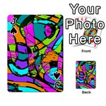 Abstract Sketch Art Squiggly Loops Multicolored Playing Cards 54 Designs  Front - SpadeJ