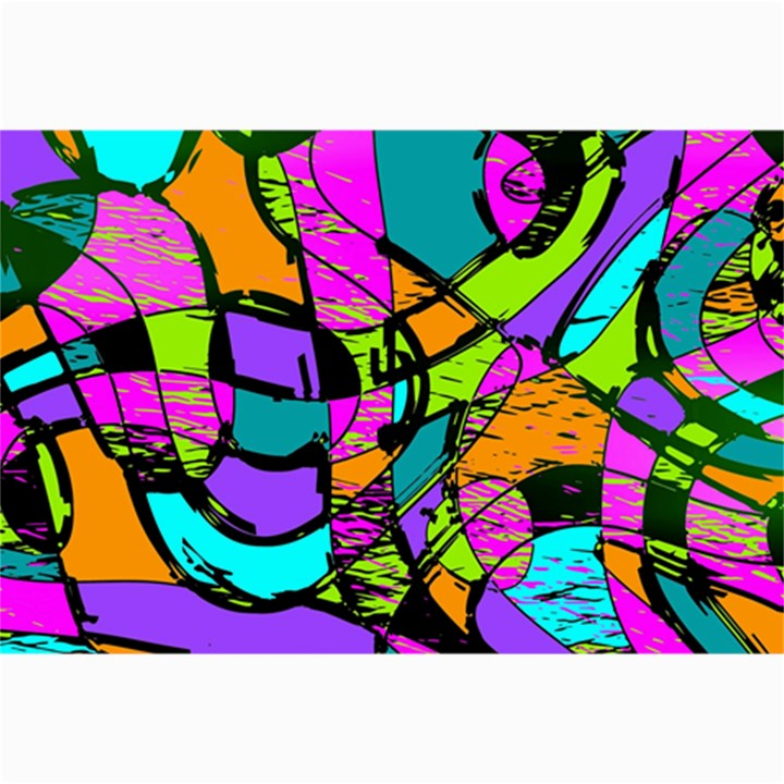 Abstract Sketch Art Squiggly Loops Multicolored Collage Prints