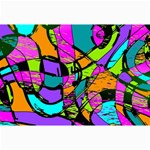 Abstract Sketch Art Squiggly Loops Multicolored Collage Prints 18 x12 Print - 5