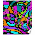 Abstract Sketch Art Squiggly Loops Multicolored Canvas 20  x 24   24 x20 Canvas - 1