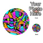 Abstract Sketch Art Squiggly Loops Multicolored Playing Cards 54 (Round)  Front - Joker2
