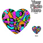 Abstract Sketch Art Squiggly Loops Multicolored Playing Cards 54 (Heart)  Front - Diamond9