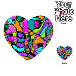 Abstract Sketch Art Squiggly Loops Multicolored Playing Cards 54 (Heart)  Front - Club2