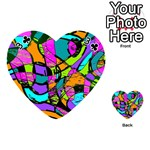 Abstract Sketch Art Squiggly Loops Multicolored Playing Cards 54 (Heart)  Front - Club3