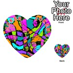 Abstract Sketch Art Squiggly Loops Multicolored Playing Cards 54 (Heart)  Front - Joker2
