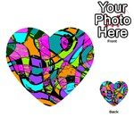 Abstract Sketch Art Squiggly Loops Multicolored Playing Cards 54 (Heart)  Back