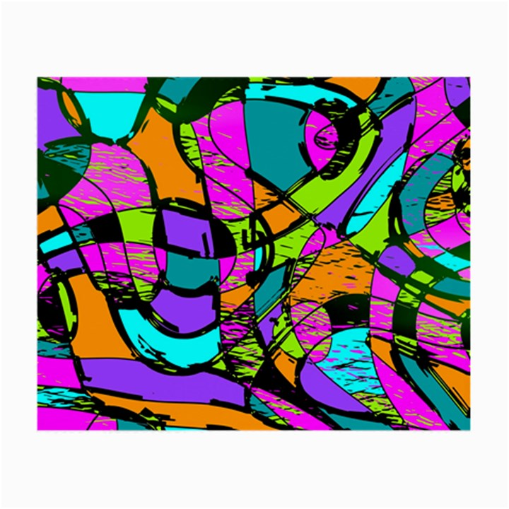 Abstract Sketch Art Squiggly Loops Multicolored Small Glasses Cloth (2-Side)