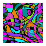 Abstract Sketch Art Squiggly Loops Multicolored Medium Glasses Cloth (2-Side) Back