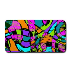 Abstract Sketch Art Squiggly Loops Multicolored Medium Bar Mats by EDDArt