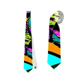 Abstract Sketch Art Squiggly Loops Multicolored Neckties (One Side)  Front