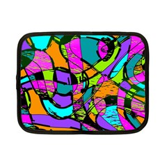 Abstract Sketch Art Squiggly Loops Multicolored Netbook Case (small)