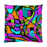 Abstract Sketch Art Squiggly Loops Multicolored Standard Cushion Case (Two Sides) Front