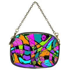 Abstract Sketch Art Squiggly Loops Multicolored Chain Purses (two Sides)  by EDDArt
