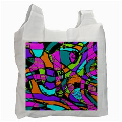 Abstract Sketch Art Squiggly Loops Multicolored Recycle Bag (two Side)