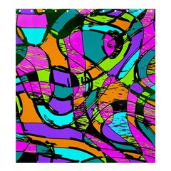 Abstract Sketch Art Squiggly Loops Multicolored Shower Curtain 66  X 72  (large)  by EDDArt