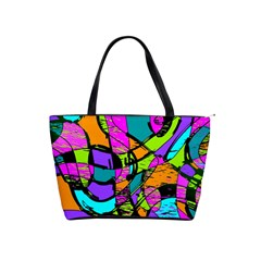 Abstract Sketch Art Squiggly Loops Multicolored Shoulder Handbags by EDDArt