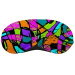 Abstract Sketch Art Squiggly Loops Multicolored Sleeping Masks Front