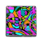 Abstract Sketch Art Squiggly Loops Multicolored Memory Card Reader (Square) Front