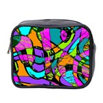 Abstract Sketch Art Squiggly Loops Multicolored Mini Toiletries Bag 2-Side Front