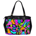 Abstract Sketch Art Squiggly Loops Multicolored Office Handbags (2 Sides)  Back
