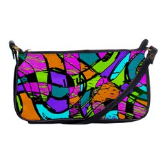 Abstract Sketch Art Squiggly Loops Multicolored Shoulder Clutch Bags