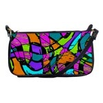 Abstract Sketch Art Squiggly Loops Multicolored Shoulder Clutch Bags Front