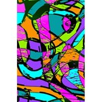 Abstract Sketch Art Squiggly Loops Multicolored 5.5  x 8.5  Notebooks Back Cover