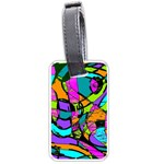 Abstract Sketch Art Squiggly Loops Multicolored Luggage Tags (One Side)  Front