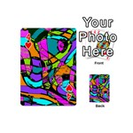 Abstract Sketch Art Squiggly Loops Multicolored Playing Cards 54 (Mini)  Front - Heart4