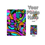 Abstract Sketch Art Squiggly Loops Multicolored Playing Cards 54 (Mini)  Front - Heart7