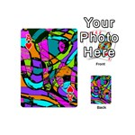 Abstract Sketch Art Squiggly Loops Multicolored Playing Cards 54 (Mini)  Front - HeartA