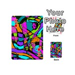 Abstract Sketch Art Squiggly Loops Multicolored Playing Cards 54 (Mini)  Front - DiamondK