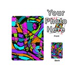Abstract Sketch Art Squiggly Loops Multicolored Playing Cards 54 (Mini)  Front - Club3