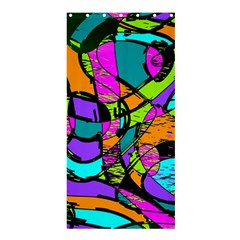 Abstract Sketch Art Squiggly Loops Multicolored Shower Curtain 36  X 72  (stall)  by EDDArt