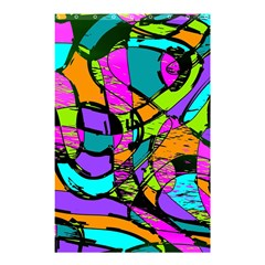 Abstract Sketch Art Squiggly Loops Multicolored Shower Curtain 48  X 72  (small)  by EDDArt