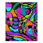 Abstract Sketch Art Squiggly Loops Multicolored Shower Curtain 60  x 72  (Medium)  54.25 x65.71 Curtain