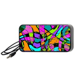 Abstract Sketch Art Squiggly Loops Multicolored Portable Speaker (black)  by EDDArt