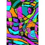 Abstract Sketch Art Squiggly Loops Multicolored Heart 3D Greeting Card (7x5) Inside