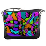 Abstract Sketch Art Squiggly Loops Multicolored Messenger Bags Front