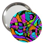 Abstract Sketch Art Squiggly Loops Multicolored 3  Handbag Mirrors Front