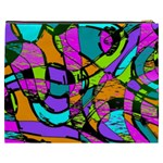 Abstract Sketch Art Squiggly Loops Multicolored Cosmetic Bag (XXXL)  Back