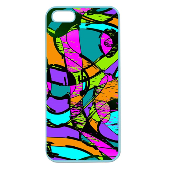 Abstract Sketch Art Squiggly Loops Multicolored Apple Seamless iPhone 5 Case (Color)