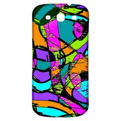 Abstract Sketch Art Squiggly Loops Multicolored Samsung Galaxy S3 S Iii Classic Hardshell Back Case by EDDArt