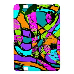Abstract Sketch Art Squiggly Loops Multicolored Kindle Fire Hd 8 9  by EDDArt