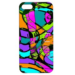 Abstract Sketch Art Squiggly Loops Multicolored Apple Iphone 5 Hardshell Case With Stand by EDDArt